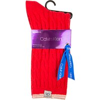 Calvin Klein Holiday Cable Knit Gift Wrap Ankle Socks, Crimson