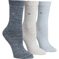 Calvin Klein Gift Pack Holiday Sparkle Ankle Socks, Pack of 3, Multi
