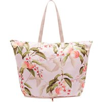 Ted Baker Deb Peach Blossom Foldaway Shopper Bag, Light Pink