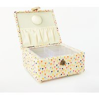 John Lewis & Partners Distant Dreams Print Small Square Sewing Basket, Cream