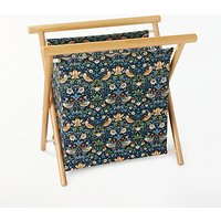 John Lewis & Partners Strawberry Thief Knitting Storage Frame, Navy