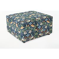 John Lewis & Partners Strawberry Thief Print Small Square Sewing Basket, Navy