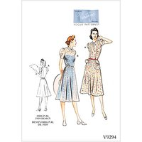 Vogue Women's Dress Sewing Pattern, 9294
