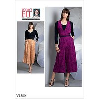Vogue Women's Trousers Sewing Pattern, 1580