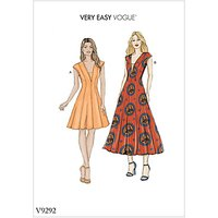 Vogue Women's Dress Sewing Pattern, 9292
