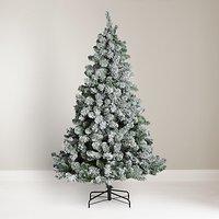 John Lewis & Partners Snowy Festive Fir Unlit Christmas Tree, 6ft