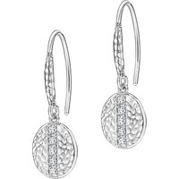 shop for Dower & Hall Lumiere Sterling Silver Geo Sapphire Drop Earrings at Shopo