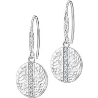 shop for Dower & Hall Lumiere Sterling Silver Round Sapphire Drop Earrings at Shopo