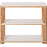 Another Brand Lastra Console Table, Mushroom/Oak