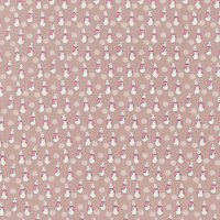 Peter Rabbit Betsy Rabbit Print Fabric, Grey