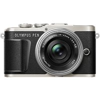Olympus PEN E-PL9 Compact System Camera with 14-42mm EZ Lens, 4K Ultra HD, 16.1MP, Wi-Fi, Bluetooth, 3 Tiltable LCD Touch Screen