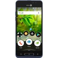 Doro 8035 Smartphone, 5, 4G, SIM Free, Midnight Blue