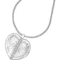 shop for Dower & Hall Large Sterling Silver Heart Sapphire Locket at Shopo