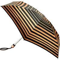 Fulton Tiny 2 Bands Of Gold Compact Folding Umbrella, Black/rose Gold