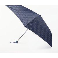 John Lewis & Partners Houndstooth Print Superslim Umbrella, Navy