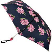 Joules Chinoise Flower Telescopic Umbrella, Pastel Blue