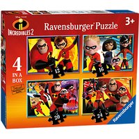 Ravensburger Incredibles 2 4-in-a-Box Jigsaw Puzzles Set