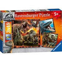 Ravensburger Jurassic World: The Fallen Kingdom Jigsaw Puzzles Set, 3x49 Pieces
