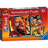 Ravensburger Incredibles 2 Jigsaw Puzzles Set, 3x49 Pieces