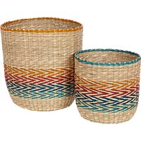 John Lewis & Partners Fusion Patterned Basket, Set of 2