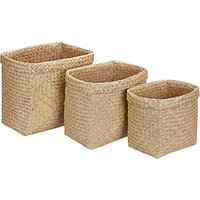 John Lewis & Partners Fusion Seagrass Baskets, Set of 3