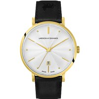 Larsson and Jennings Unisex Aurora Date Leather Strap Watch