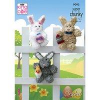 King Cole Super Chunky Rabbit Crochet Pattern, 9095