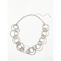 John Lewis & Partners Statement Circles Necklace, Rose Gold/Silver