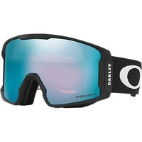 Oakley OO7070 Men's Line Miner Ski Goggles, Black/Mirror Blue