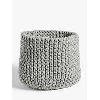 Croft Collection Chunky Knit Storage Basket, Grey
