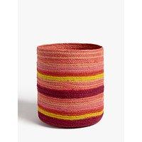 John Lewis & Partners Fusion Jute Striped Storage Basket