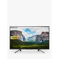 Sony Bravia KDL43WF663 LED HDR Full HD 1080p Smart TV, 43 with Freeview Play & Cable Management, Black