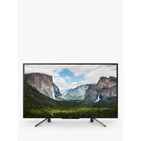 Sony Bravia KDL50WF663 LED HDR Full HD 1080p Smart TV, 50 with Freeview Play & Cable Management, Black