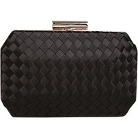 Carvela Gianna Satin Clutch Bag, Black