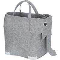 little home at John Lewis Elephant Felt Storage Bin, Grey