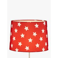 little home at John Lewis Star Lampshade, Red