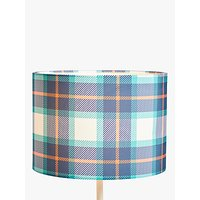 little home at John Lewis Check Lampshade, Multi