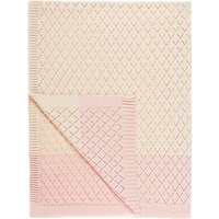 little home at John Lewis Freya Crochet Throw, Ash Rose