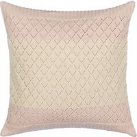 little home at John Lewis Freya Crochet Cushion, Ash Rose