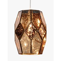 shop for John Lewis & Partners Romy Easy-to-Fit Mirrored Glass Ceiling Shade, Gold at Shopo