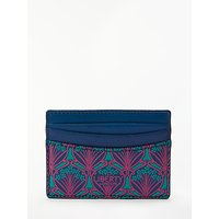 Liberty Iphis Canvas Print Leather Card Holder