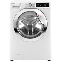 Hoover Dynamic Next Premium DXP 412AIW3 Freestanding Washing Machine, 12kg Load, A+++ Energy Rating, 1400rpm Spin, White/Chrome