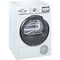 Siemens WT4HY791GB Heat Pump Tumble Dryer, 9kg Load, A++ Energy Rating, White