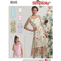 Simplicity Women's Dress And Top Sewing Pattern, 8545