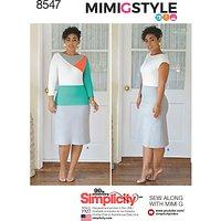 Simplicity Mimi G Style Women's Dress Sewing Pattern, 8547