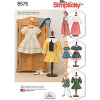 Simplicity 18 Vintage Doll Clothes Sewing Pattern, 8575