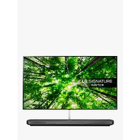 LG OLED77W8PLA Signature OLED HDR 4K Ultra HD Smart TV, 77 with Freeview Play/Freesat HD, Picture-On-Wall Design & Dolby Atmos Sound Base Unit, Ultra HD Certified, Black