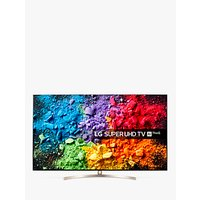 LG 49SK8100PLA LED HDR Super UHD 4K Ultra HD Smart TV, 49 with Freeview Play/Freesat HD, Cinema Screen Design, Dolby Atmos & Crescent Stand, Ultra HD Certified, Silver