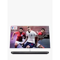 LG OLED65W8PLA Signature OLED HDR 4K Ultra HD Smart TV, 65 with Freeview Play/Freesat HD, Picture-On-Wall Design & Dolby Atmos Sound Base Unit, Black