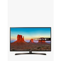 LG 49UK6400PLF LED HDR 4K Ultra HD Smart TV, 49 with Freeview Play/Freesat HD & Crescent Stand, Ultra HD Certified, Metallic